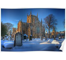 Dunfermline Abbey in the snow Poster