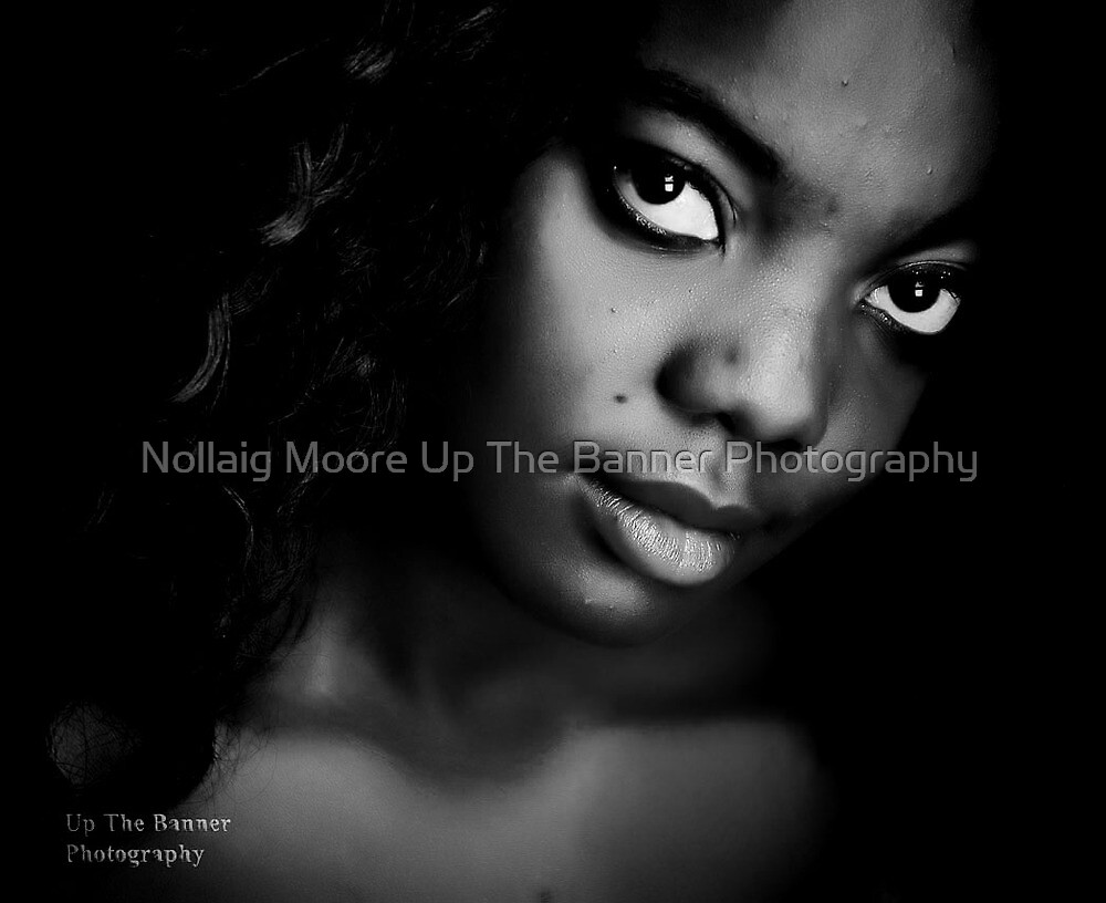 African American Ebony Female Portrait by Noel Moore Up The Banner Photography