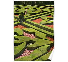 The  love garden, Chateau Villandry, Loire Valley Poster