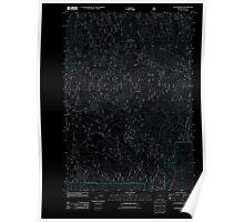 USGS Topo Map Oregon Cougar Rock 20110801 TM Inverted Poster