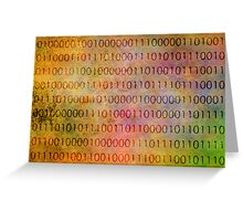 A Picture in Binary Greeting Card