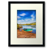beautiful place to fish Framed Print