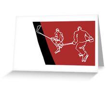 Blood Hockey Greeting Card
