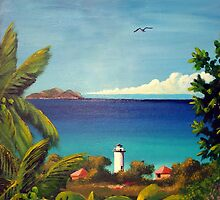 Rincon, Puerto Rico Light house by Matthew Campbell