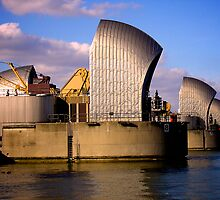 Thames Barrier by Lisa Hafey