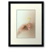 A tiny token from a heart filled with love Framed Print
