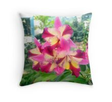 Orchids for the Living Deads Throw Pillow