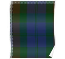 00415 Campbell Brown Clan/Family Tartan  Poster