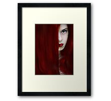 While her lips are still red Framed Print