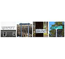 cape cod signs Photographic Print