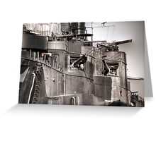 Cannons Of Battleship Texas Greeting Card