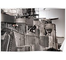 Cannons Of Battleship Texas Poster
