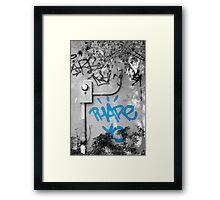 Graffiti - Blue Framed Print