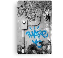 Graffiti - Blue Canvas Print