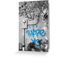 Graffiti - Blue Greeting Card