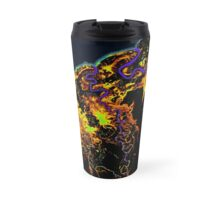 Water of the Gulf Rivers - on Black Travel Mug