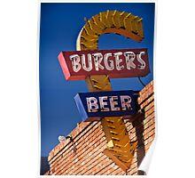 Burgers & Beer Poster