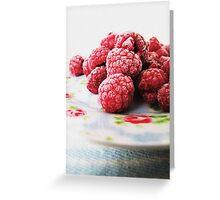 Raspberries - Still Life Greeting Card