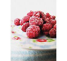 Raspberries - Still Life Photographic Print