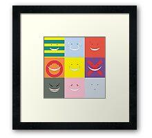 Koro Sensei patchwork Framed Print