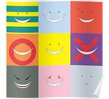 Koro Sensei patchwork Poster
