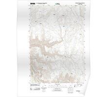 USGS Topo Map Oregon Howard Butte 20110808 TM Poster