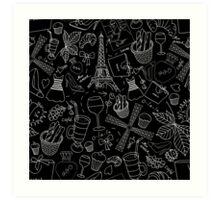 - Walking in Paris pattern 2 - Art Print