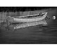 Moored boat in Peggy's Cove. Photographic Print