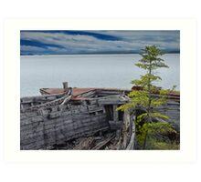 Shipwrecks at Neys Provincial Park Art Print