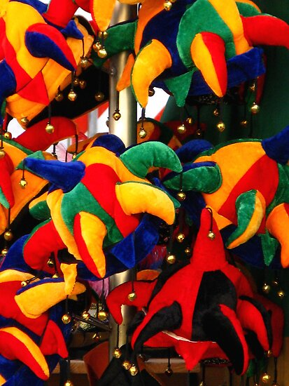 Colourful Jester Hats  by Marilyn Harris