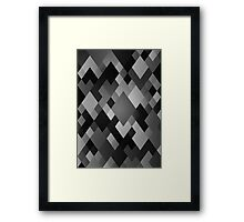 Crate & Pickle - Grey Diamonds Framed Print