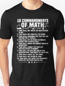10 Commandments Of Math T-Shirt