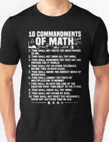 10 Commandments Of Math T-Shirt