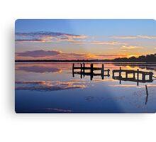 Sunrise on lake.  11-2-11 Metal Print