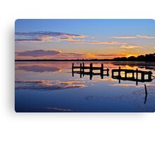 Sunrise on lake.  11-2-11 Canvas Print
