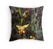 Donkey Orchid, Western Australia Throw Pillow