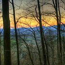 Sundown at Amicalola Falls, Dawsonville, GA by Chelei
