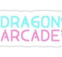 Dragon Arcade Neon Logo Sticker