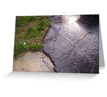 Rainy Sidewalk Greeting Card