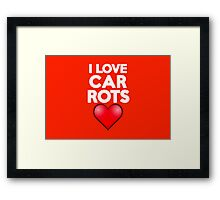I love carrots Framed Print