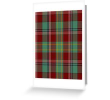 00419 Golden Broom Tartan  Greeting Card