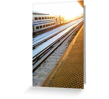 Disappearing Train Greeting Card