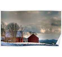 Barns With A View Poster