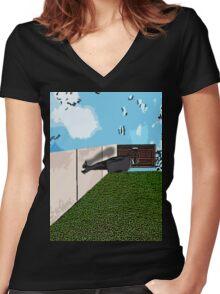 A Conscious Vertigo Women's Fitted V-Neck T-Shirt