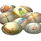 Embroidered Australian Easter Eggs, Happy Easter by Mary Taylor