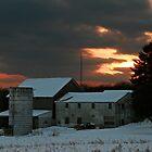 Sunset Over Seneca Farm by Geno Rugh