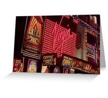 Times Square Night Greeting Card