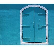 Behind the Blue Door Photographic Print