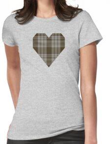 00422 Menzies Brown & White Tartan  Womens Fitted T-Shirt