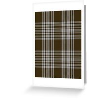 00422 Menzies Brown & White Tartan  Greeting Card